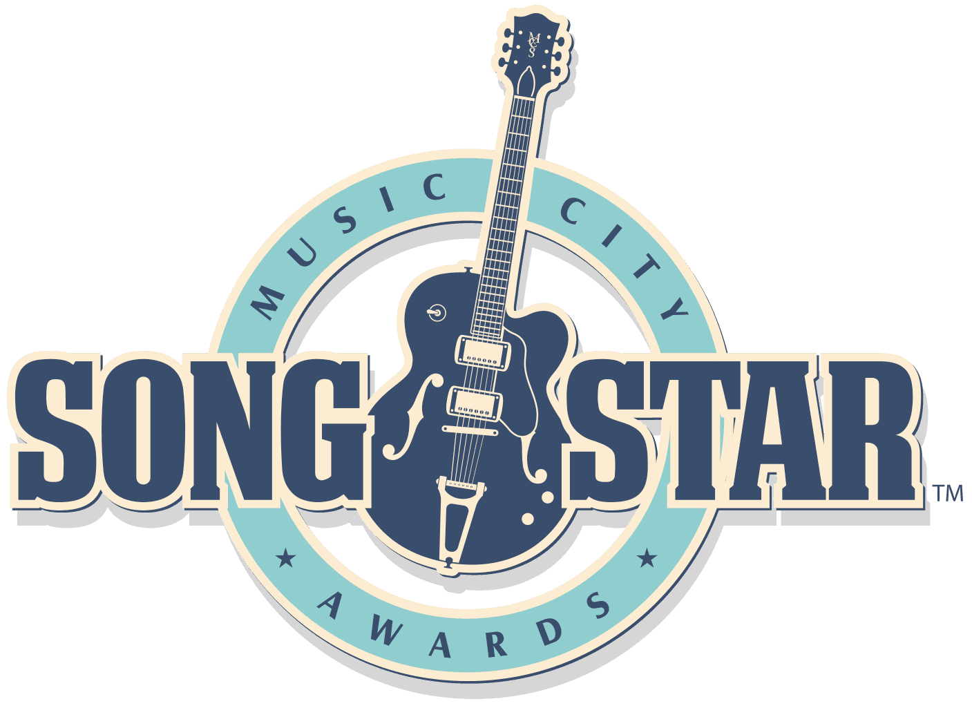 Music City SongStar LOGO Guitar in Center
