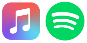 Apple Music and Spotify logos